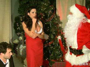Wonderful Milf in a provocative red outfit has fantasies she is eager to satisfy