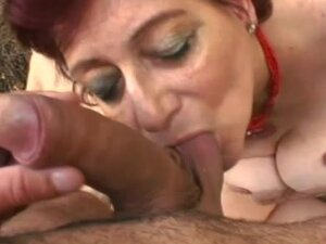 Mature redhead Tamara being fucked outside