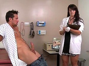 Busty Brunette Doctor Doing a Sexperiment