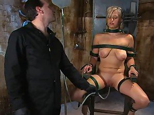 Blonde Hottie gets Some Pussy Torture