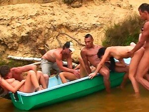 Outdoor Orgy With Horny Teens In Summer Vacation