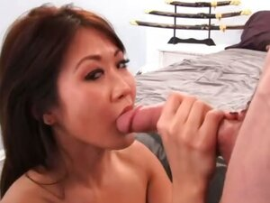Taya has been wishing for such a long time to experience a big white cock. Be careful what you wish my little Asian honey you just might get it. Hard and rough in her tight little Asian temple just the way she wanted it!