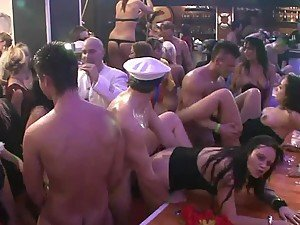 Sexy Marine Party Turns Into A Wild Orgy With Slutty Babes