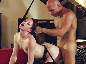 Lingerie clad Stoya loves hair-pulling