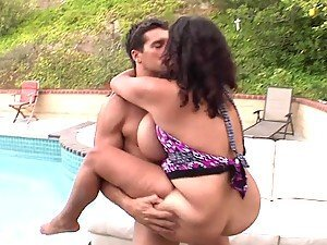 Hot Pool Side Sex With The Mega Busty Latina Selena Starr