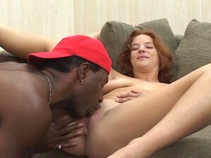 Cute redhead housewife gets anal fucked by black cock