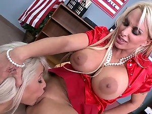 Insane Lesbian Action With Brooke Haven and Holly Halston