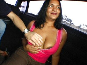 A curvy, mature Indian mom gets into a van full of younger guys on the promise of sex