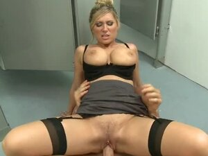 Office bathroom sex with milf