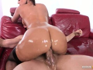He slides his dick in her wet hole and she rides him fast and hard
