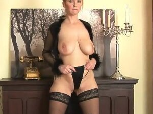 Sexy mature in sheer lingerie erotic tease