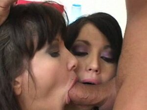 Mom guides daughter to climax