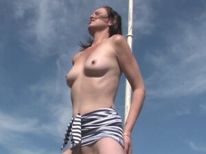 Outdoor dildo masturbation