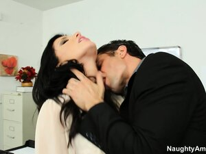 Astonishing brunette Romi Rain seduces a student and reveals her perfect body