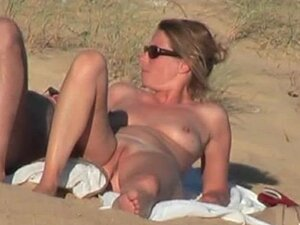 Sexy French babe is moaning on the beach from what her man does to her