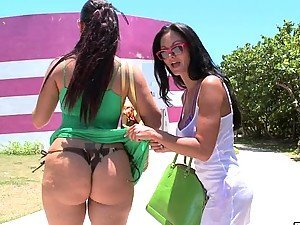 Lovely babes Ava Addams & Miss X get banged by two
