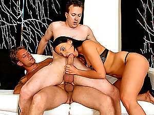 Big Cock Bisex Threesome.